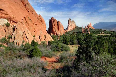 uplifting: Jard�n de los Dioses de Colorado Paisaje de monta�a Foto de archivo