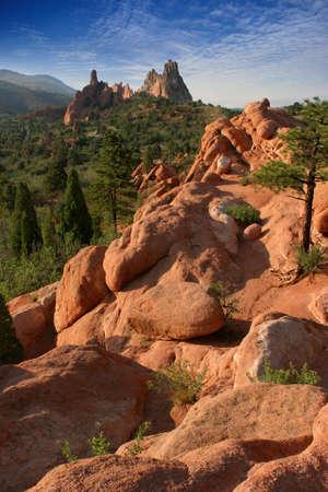 uplifting: Colorado jard�n de los dioses del paisaje de monta�a  Foto de archivo