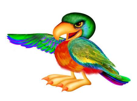 Parrot wijzen naar links