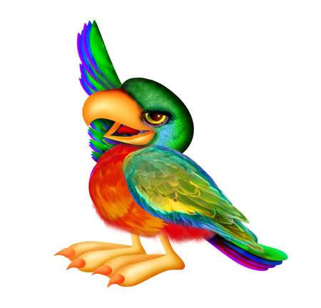 Parrot omhoog