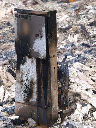 Burning Building Stock Photo - 4829890