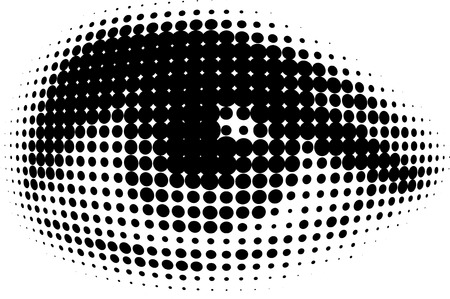 halftone: dots human eyes