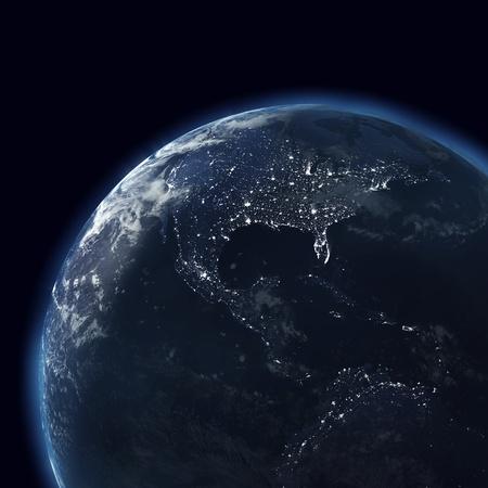 night globe with city lights, america, usa Stock Photo - 8753851
