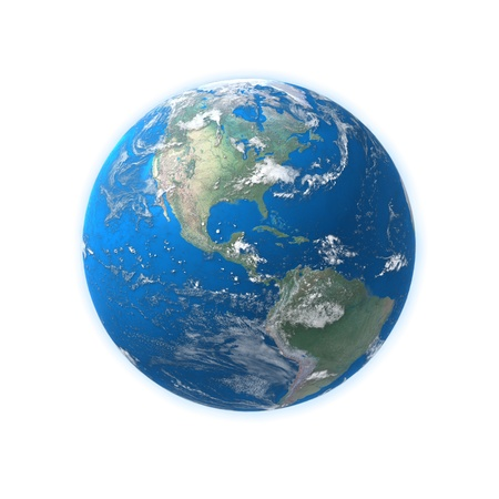 High Detailed Globe Map Central America Usa Stock Photo Picture - Us globe map