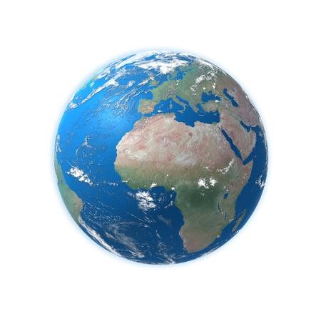 mapa de africa: mapa de alta detallado mundo, Europa, África Foto de archivo
