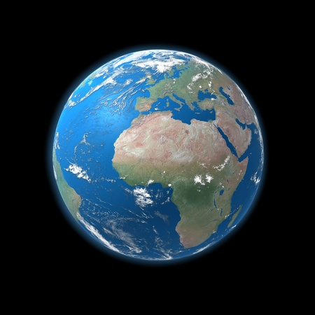 globe asia: high detailed globe map, europe, africa