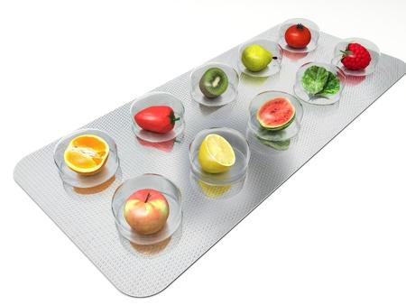 vitamina a: Las p�ldoras naturales de la vitamina Foto de archivo