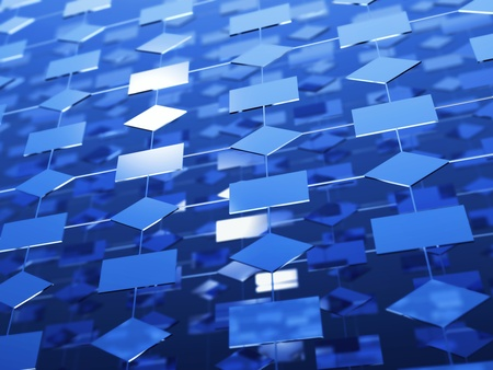 construction mesh: blue structure Stock Photo