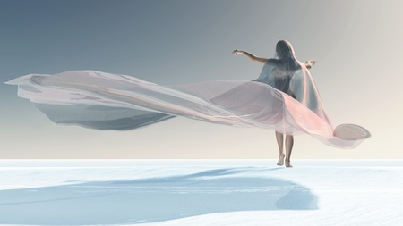Four Seasons, woman at winter Imagens
