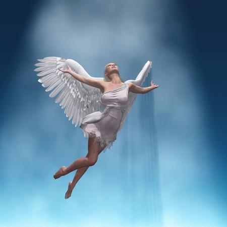 angel fly to sky