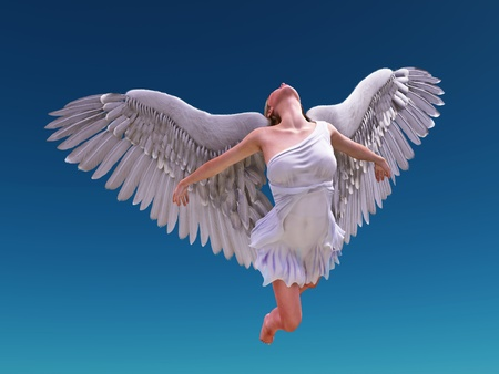 angel fly to sky  photo
