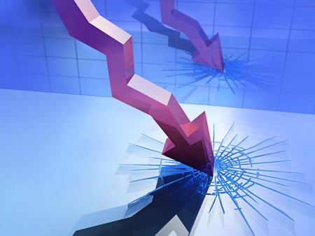 recession: graph of economic recession
