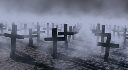 cementerios: cementerio de m�stica Foto de archivo