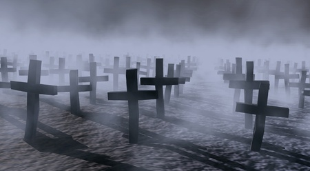 cemeteries: mystical cemetery  Stock Photo