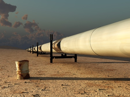 pipeline in desert  photo