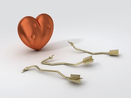 strong heart and broken arrows photo