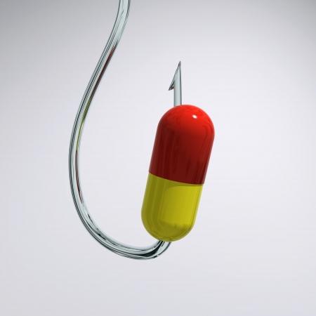 deceive: pill on a hook