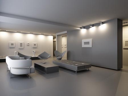 exhibition hall interior  Imagens