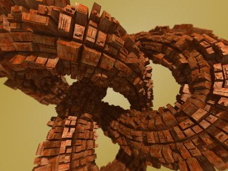 structure metal: futuristic knot  Stock Photo
