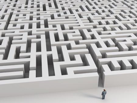 man before labyrinth