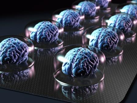 packs of pills: brain resources
