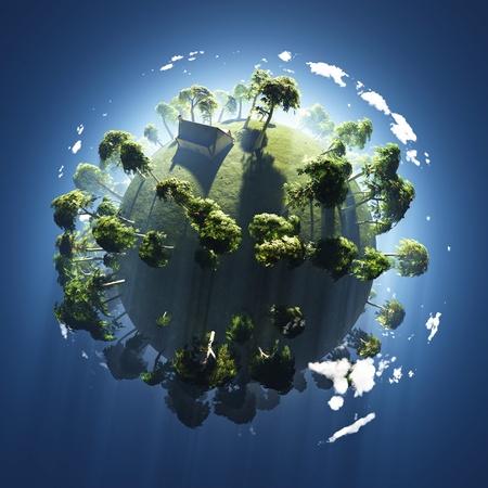 green planet: �t� sur la plan�te verte petite