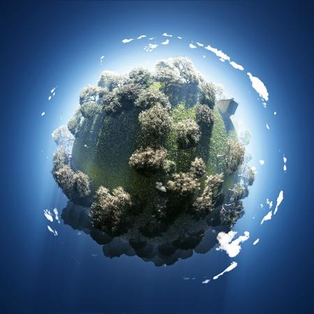 green planet: printemps sur la plan�te verte petite Banque d'images