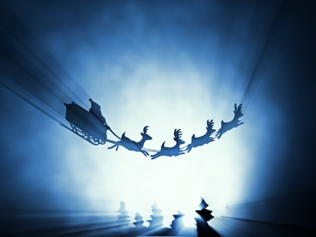 flying santa sledge  photo