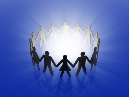 friendship circle: teamwork Stock Photo