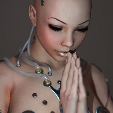 robot woman: New religion