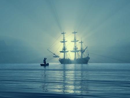 salvation: ancient vessel in Gulf