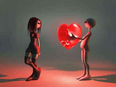 d?a: el hombre da a la novia del coraz�n