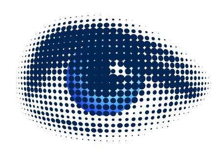 halftone dots: blue eye  Illustration