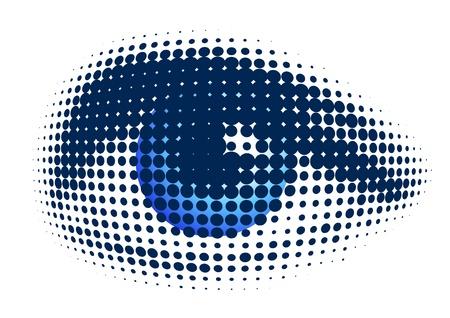 globo ocular: ojo azul