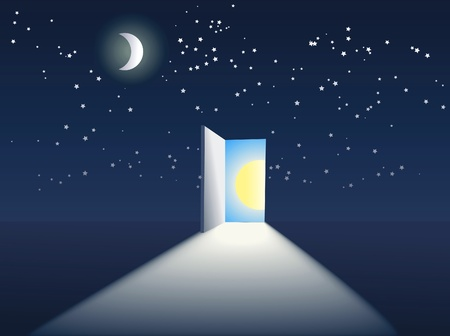 open door in the sky Vector