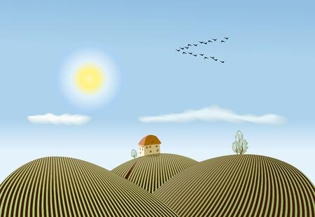 tillage: primavera de vista de la campi�a