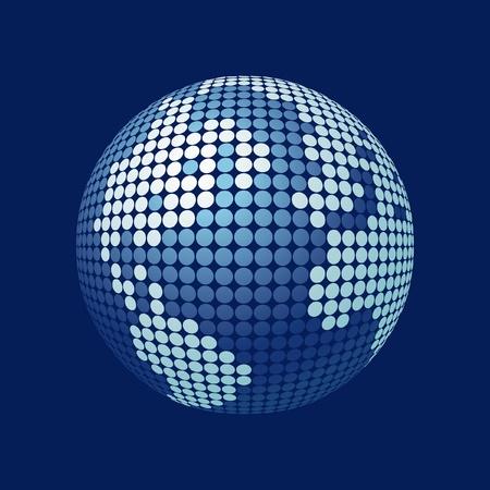 3D vettoriale globo