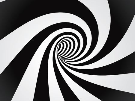 curved tunnel  Ilustração