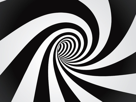 curved tunnel  Vector