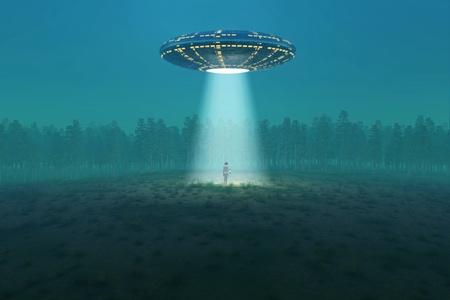 fliegende Untertasse angekommen