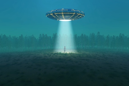 abduction: flying saucer arrived