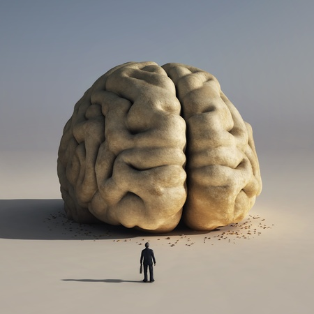 brain and thinking: man before big brain