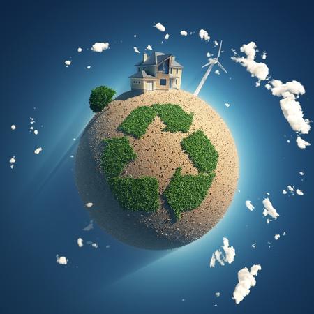 Planeten des Recyclings Standard-Bild
