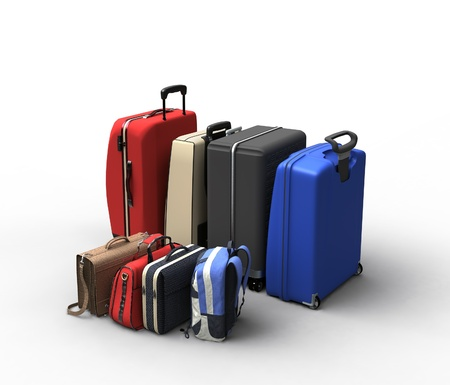 luggage travel: luggage bags Stock Photo