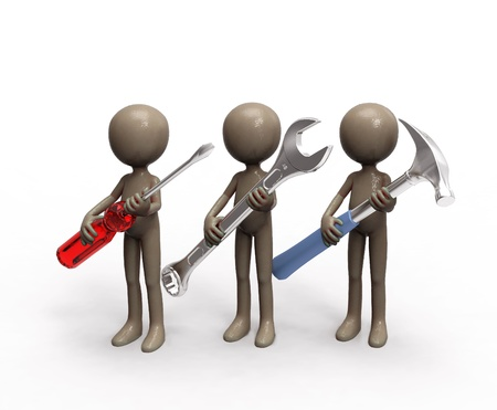 repair team with tools Stock Photo - 13697248