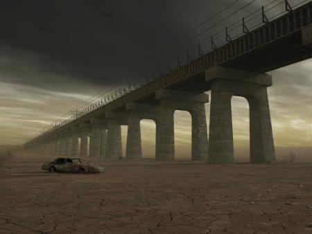 industrial ruins: old bridge