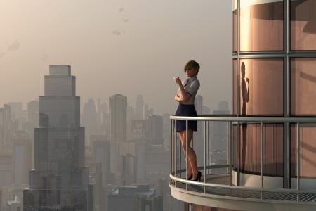 Coffee Break on penthouse