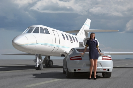Ein luxuri�ses Flug photo