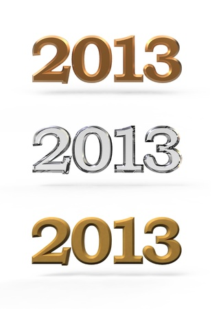 new year 2013 numbers Stock Photo - 15122704
