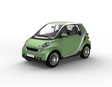 compact: small green car Stock Photo